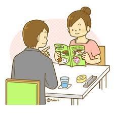男と女が会話